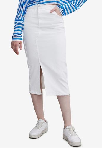 URBAN REVIVO white Casual Skirt FE05BAA8371468GS_1