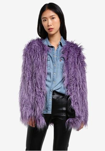 Buy Mango Faux Fur Coat Online | ZALORA Malaysia