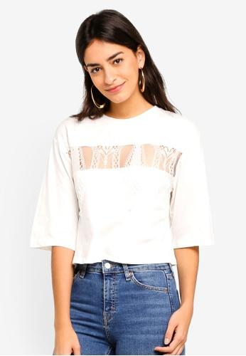 TOPSHOP 白色 品牌刺繡T恤 75C47AA4A0D9B5GS_1
