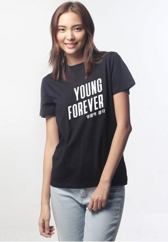 HYPE MNL black Young Forever Shirt 3A7D8AA09D30BDGS_1