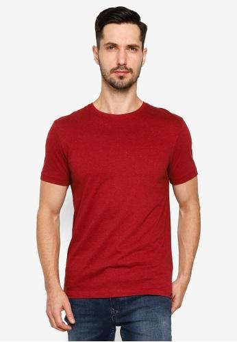 BLEND red Basic Crew Neck T-Shirt C34D6AA3788B69GS_1