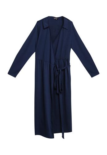 ZALORA navy Jersey Wrap Dress D7459AA60E06CEGS_1