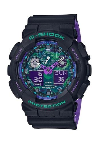 G-shock black and purple CASIO G-SHOCK GA-100BL-1A BDBD6AC67FE0FBGS_1