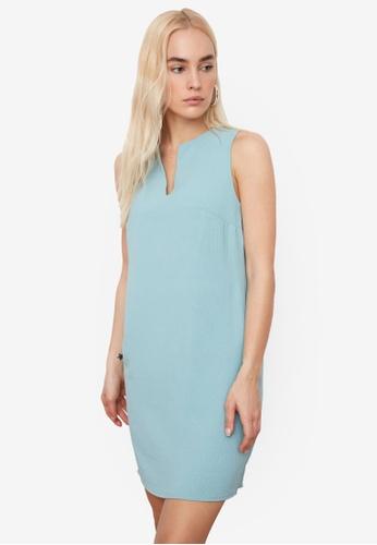 Trendyol green Sleeveless Shift Dress 1A715AA64828D3GS_1