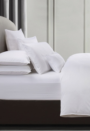 Grand Atelier white White Suite Essentials Fitted Sheet Set B2510HLFC391FDGS_1