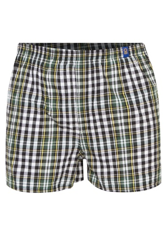 Sunjoy green Checkered Boxer Shorts B5068US191B2FFGS_1