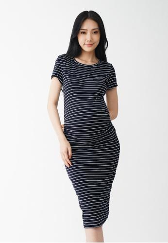 9months Maternity black Black Perfect Fit Midi Maternity Dress DAC6AAA2269D1FGS_1