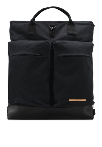 "Rawrow black Wax Cotna 340 15"" Helmet Backpack RA312AC0SIYRMY_1"