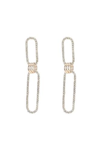 Dandelion 金色 雙鑽飾耳環 8C1D7AC609EDD5GS_1
