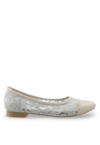 Footspot grey FOOTSPOT - Pointed Toe Flats FO296SH74KYVHK_1