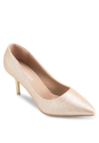 亮紋尖形esprit hk store鞋頭高跟鞋, 女鞋, 鞋