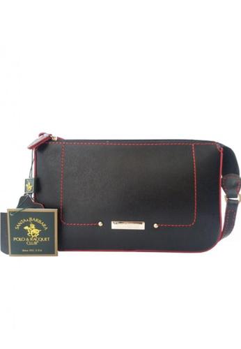 4cc7017ce3 Santa Barbara Polo   Racquet Club black Azalea Series Sling Bag  SA244AC06GZDPH 1