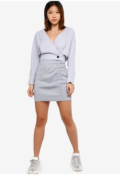 03a4c59932 17% OFF Something Borrowed Ruched Bodycon Mini Skirt S$ 29.90 NOW S$ 24.90  Sizes XS S M L XL