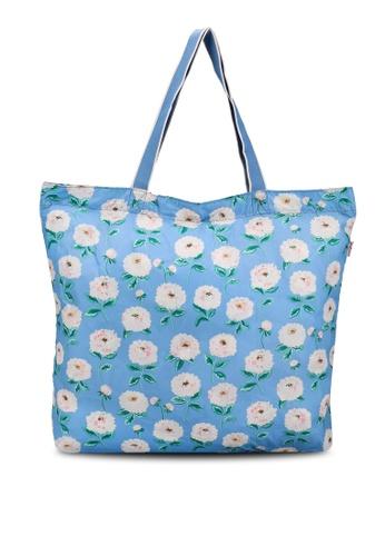Cath Kidston blue Dahlia Large Foldaway Tote Bag B614DACF725858GS_1