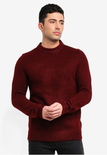Only & Sons red Patrick Crew Neck Knitwear 3B182AA11D22C5GS_1