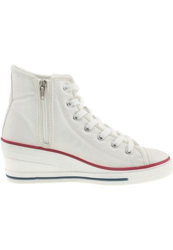Maxstar Maxstar Women's 7H Zipper PU Low Wedge Heel Sneakers US Women Size MA164SH39PWQSG_1