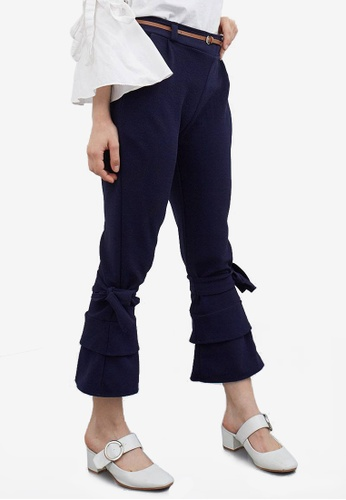Berrybenka blue Stena Tied Bottom Pants 10F4DAA4CD7A84GS_1