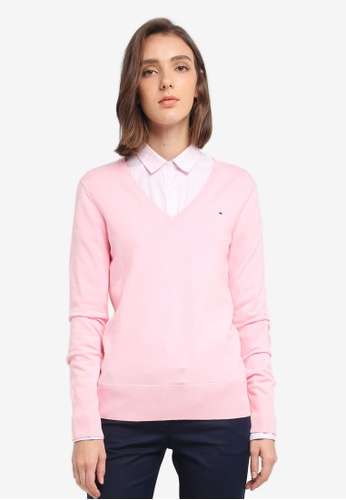 Tommy Hilfiger pink NEW IVY V-NK SWTR 4CE90AA4CFF972GS_1