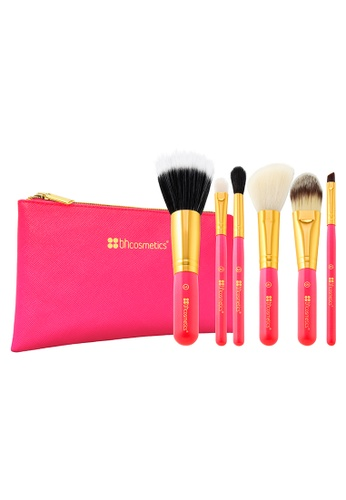 BH Cosmetics Neon Pink - 6 Piece Brush Set With Cosmetic Bag BH784BE17GSWSG_1