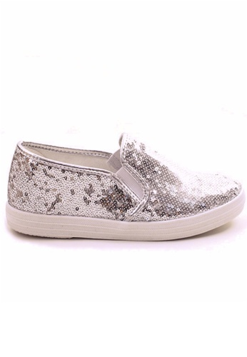 Crystal Korea Fashion silver Korean Sequin Flat Casual Shoes E426ASH11751B6GS_1