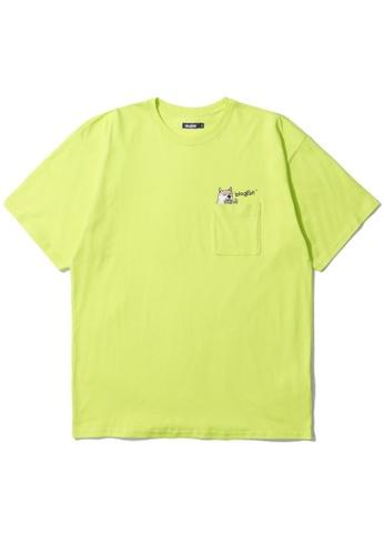 BLOCKAIT yellow Akita Ken pocket tee 05004AA717A8B6GS_1