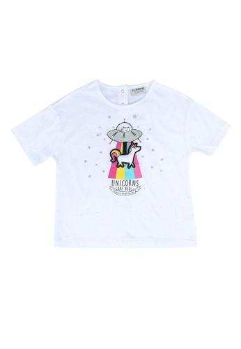 LC Waikiki beige Girl's Printed Cotton T-Shirt 1A7FCKA79A8C22GS_1