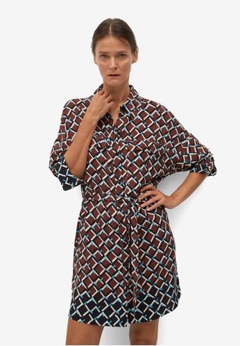 Mango brown Sash Shirt Dress 8E35EAA46636CAGS_1