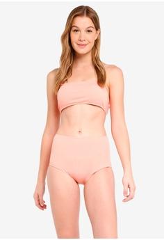 a4c16bcbe5782 PINK N  PROPER pink Opulence Calithea Ribbed High-Waist Bikini Set  4BF9CUSE5FBEE7GS 1
