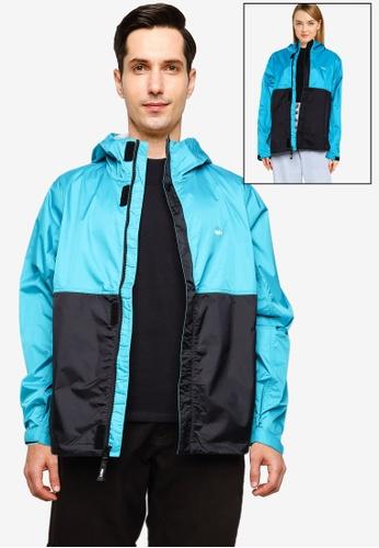 OBEY blue Global Jacket A09ADAA9255F20GS_1