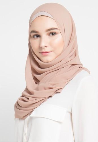 Vivi Zubedi brown Foya Hijab VI990AA06WBTID_1