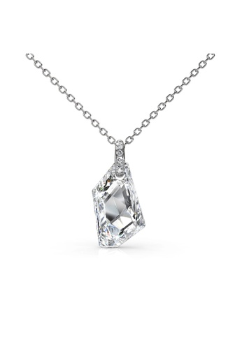 Her Jewellery silver Swarovski® Crystals - Silver Knight Pendant (White)(18K White Gold Plated) Her Jewellery HE581AC0RAKIMY_1