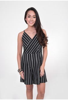Claire Vertical Stripes Romper
