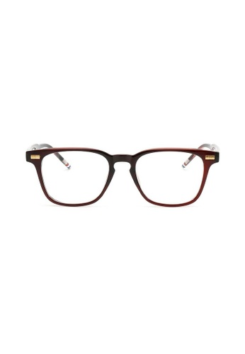 Kyfer's Eyewear & Essentials brown Angular Smart Glasses KY376AC67ISASG_1