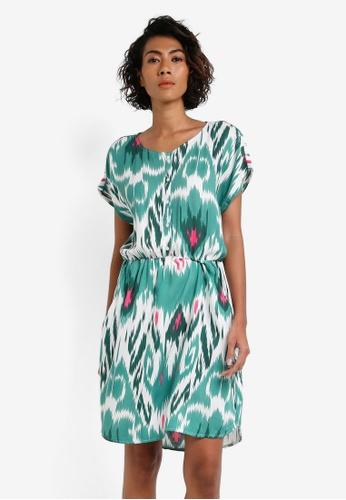 Vero Moda green Marrakech Short Sleeve Dress VE975AA0RRHKMY_1