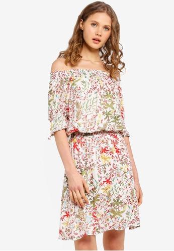 ESPRIT white Light Woven Mini Dress 0EC7DAA764C486GS_1