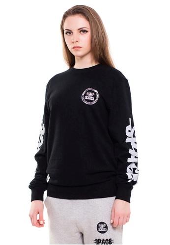 Reoparudo black RPD Reflective Space Print Crew Sweater (Black) 243DFAA4CA7146GS_1