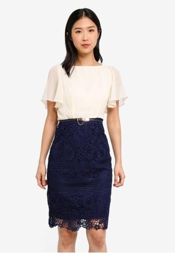 Paper Dolls multi Angel Sleeve Dress 56E2CAA5E387BDGS_1