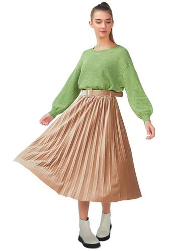 London Rag pink Accordion Pleated Long Skirt in Pink B47B9AA8C8254AGS_1