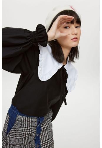 H&M black Tie-detail blouse C8E7CAAD77E231GS_1