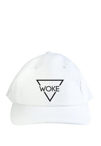 HYPE MNL white Woke Baseball Cap 62950AC166B363GS_1