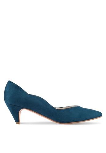 ZALORA green and blue Waves Kitten Heels 63F10SH22F9C7EGS_1