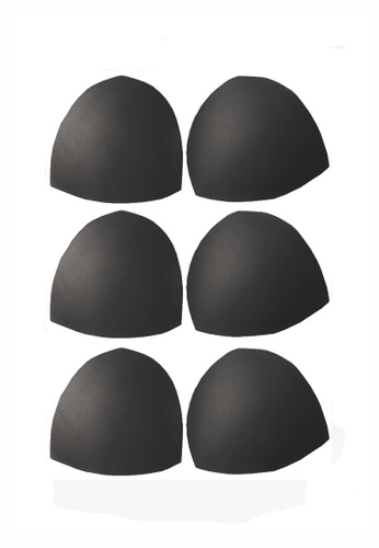 YSoCool black Women Removable Sport Bra Insert Pads Replacement Bra Pads 3 Pairs in Set 04D90USA8F9FEFGS_1