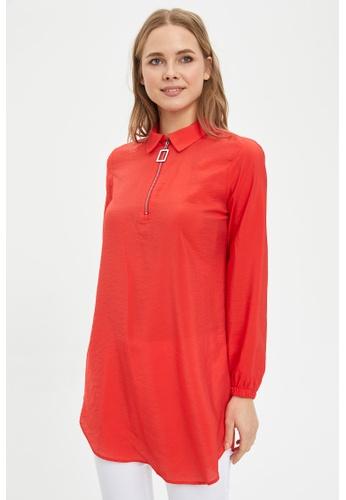 DeFacto red Long Sleeve Tunic 17E16AA66769E1GS_1