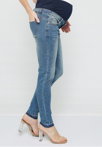 9months Maternity blue Blue Full Panel Skinny Jeans 53AEFAA4452D7AGS_1