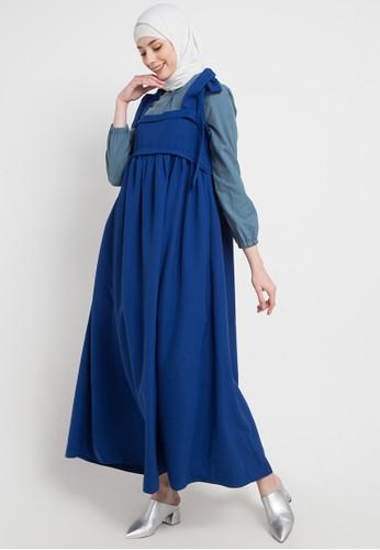 OMARA blue Sabrina Dress 99AA2AABD0A0A1GS_1