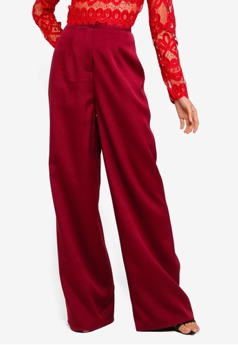 MISSGUIDED red Wide Leg Trousers B3E04AAB9EE85EGS_1
