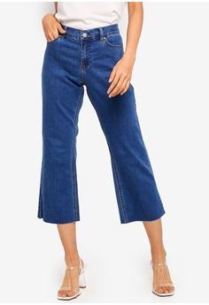 86398d34e3d ESPRIT blue Denim Cropped Pants 90003AAB5DF174GS 1