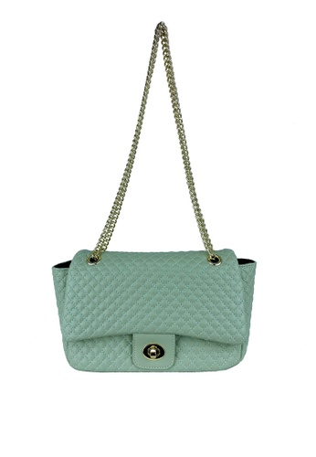 Mel&Co green Quilted Chain Shoulder Bag 2347EACD6EDCD6GS_1