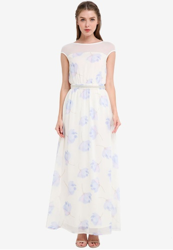 ZALORA multi Bridesmaid Embellished Waist Maxi Dress 421F5AA5E4BEB1GS_1