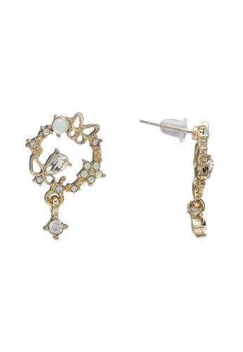 Saturation multi Garu Flower Stud Earrings 75452ACC8F6445GS_1
